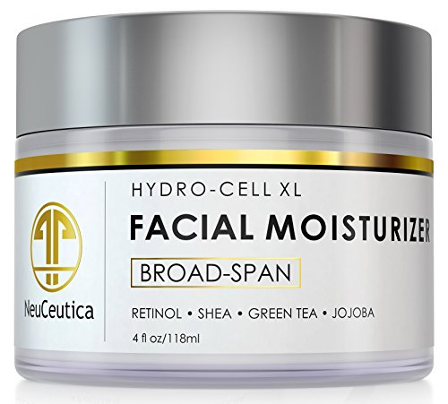 NeuCeutica Dense Retinol Facial Moisturizer Cream: Anti Aging, Anti Wrinkle, Shea Butter, Jojoba Oil, 4 Ounce