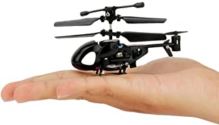 NiGHT LiONS TECH N5010 World's Smallest 3.5CH Remote Control RC Helicopter Miniature Indoor Flying LED Mini Infrared RC Helicopter Toy with Gyro RC Toy Aircraft for Kids (Black)