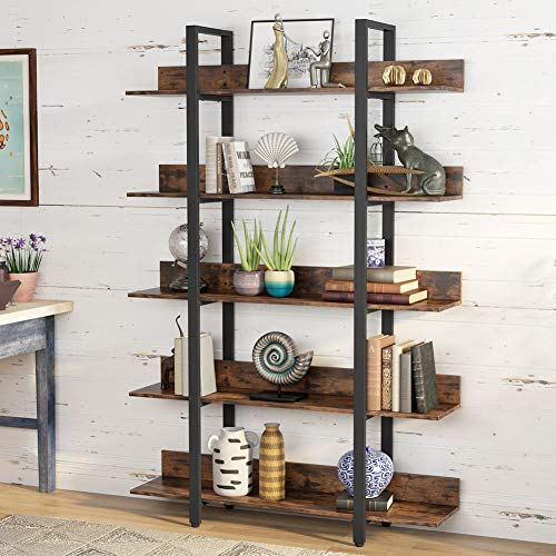 DULPLAY 2-Tier Bamboo Table Bookshelf,Storage Organizer Modern Floor-Standing Easy Assembly Shelving Unit Multipurpose for Home or Office-D 90x25x60cm(35x10x24inch)