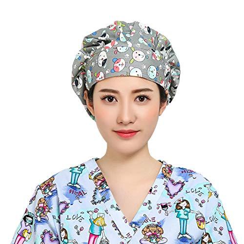TENDYCOCO Cappuccio Chirurgico Cane Stampato Berretto da Lavoro Medico Infermiere Cappello da Lavoro per Sala operatoria