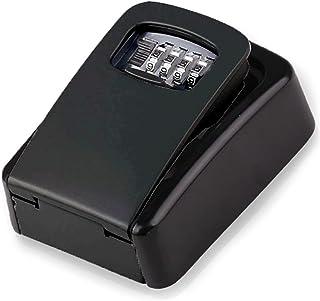 Key Lock Box Wall Mount Combination, 4 Digit Key Safe Storage Lock Box with Large Capacity, Hide a Key Secure Weatherproof...