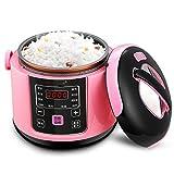 yuan yuan Intelligenter Minikocher 1-3 Leute, kann für automatischen kleinen Reiskocher des Haushalts reserviert Werden,Rosa,Mini