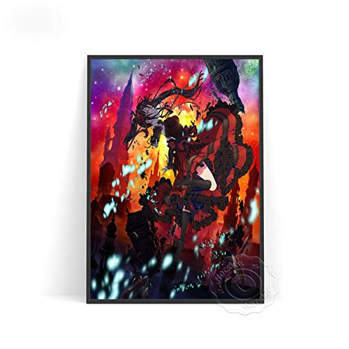 lubenwei El Anime Date · A · Bullet Poster Wall Stickers Prints Poster Anime Poster Wall Picture Kids Room Gift (AU-2722) 50x70cm Sin Marco