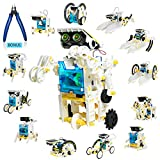 13-in-1 Solar Robot Toy with Plier, STEM Toys Robots for Kids 8 9 10 11 12+, DIY Science Toy Solar Powered Building Robotic Set,Science Experiment Kit for Kids,Education Building Toy Gift for Boy Girl