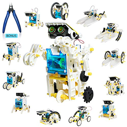 13in1 Solar Robot Toy with Plier STEM Toys Robots for Kids 8 9 10 11 12 DIY Science Toy Solar Powered Building Robotic SetScience Experiment Kit for KidsEducation Building Toy Gift for Boy Girl