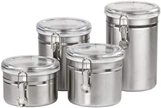 Tea, sugar, coffee and other storage sets of 4 pieces of different sizes