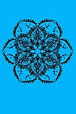 Journal: Blue Lined Journal Notebook Writing Diary Black Lotus Flower Mandala Peace Hippie Tattoo 120 Pages 6 x 9