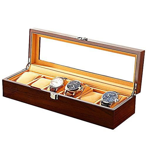badewanne Caja de reloj Skylight caja de madera para pulsera de joyería, caja de almacenamiento, caja de exhibición utilizada para el almacenamiento de anillos, pulseras, collares, etc.