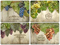 Pimpernel Tuscan Vineyard Collection Placemats - Set of 4 [並行輸入品]