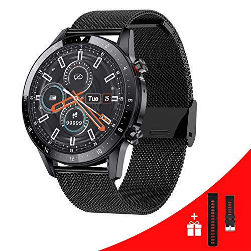Vapaa Smart Watch for Men Android iOS Phones 1.3 Inches Touch Screen Smartwatch Sports Fitness Watch with Heart Rate Blood Pressure Monitor IP68 Waterproof Bluetooth