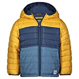 Osh Kosh Boys' Heavyweight Winter Jacket with Sherpa Lining, Gold/Grey, 8