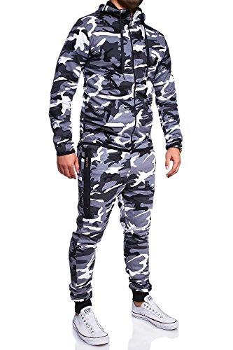 MT Styles Trainingsanzug mit Zipper Sportanzug R-7039 [Grau, L]