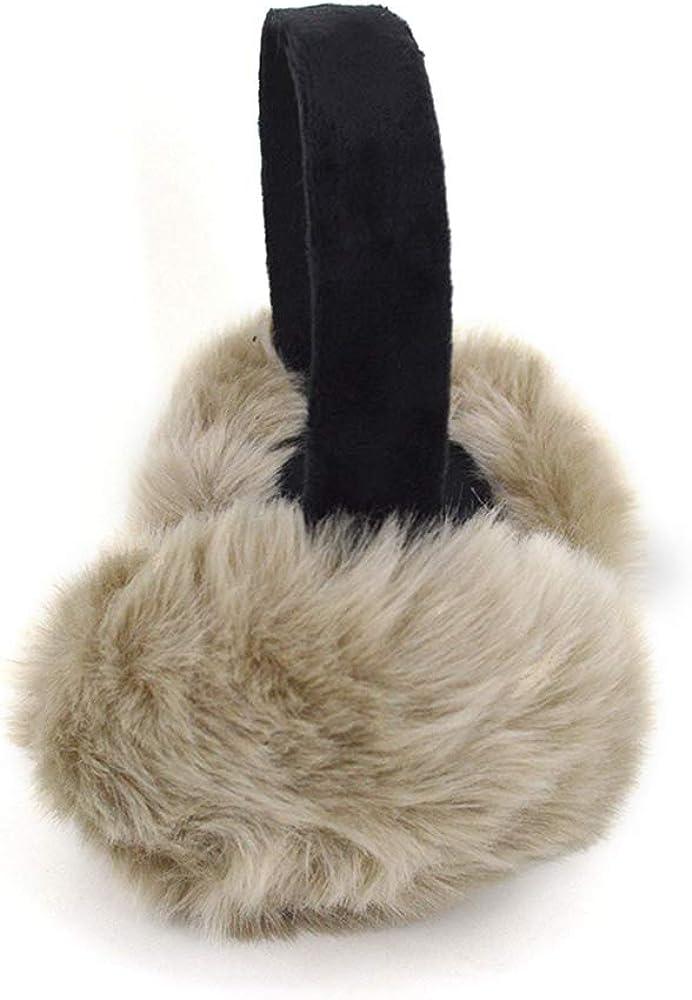 Sherry Unisex Faux Fur EarMuffs Women Girls Winter Foldable Ear Warmers Outdoor Adjustable Ear Muffs