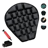 Motorcycle Seat Cushion Air Cooling Fillable Seat Pad Pressure Relief Motorcycle Air Cushion for Cruisers, Harley, Street,Sport and Touring