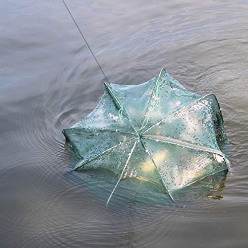 YMYGCC Fish trap 6/8/12 Holes Foldable Automatic Nylon Fishing Net Folding Fishing Network Shrimp Cage Crab Fish Mesh Fishing Supplies 21 (Color : 12 Holes)