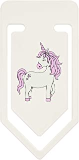 91mm 'Pink Haired Unicorn' Large Plastic Paper Clip (CC00045856)