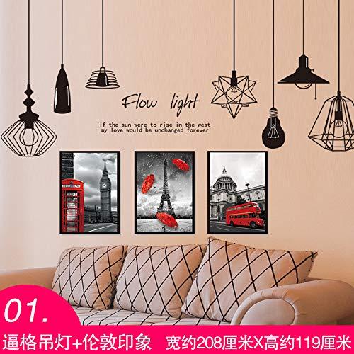 Selbstklebende Tapete Zimmer Schlafzimmer Wohnzimmer Wand Paste Jungen Schlafsaal Kopf Hintergrundwand Mit Meer Zeitung Aufkleber Verziert Erzwungene Kronleuchter Und London Impressionen Groß