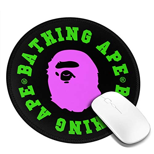 Bape Logo Poster Mousepad Non-Slip Rubber Gaming Mouse Pad Mouse Pads for Computers Laptop 8.0x8.0 in