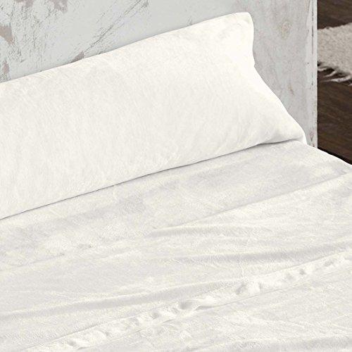 Burrito Blanco Juego de Sábanas de Coralina 3 piezas (Encimera, 1 Funda de Almohada y Sábana Bajera Ajustable) para Cama de Matrimonio de 150x190 cm hasta 150x200 cm, Beige