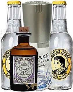 Gin Mare Miniatur 0,1 Liter  Monkey Mini  2 x Thomas Henry Tonic Water 0,2 Liter