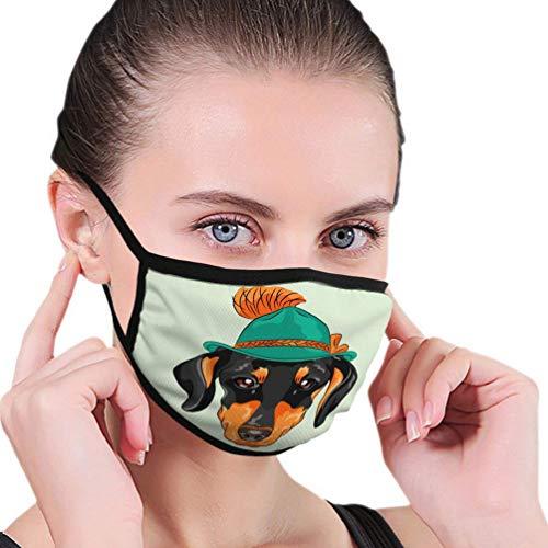 Sciarpa da esterno regolabile e sostituibile Divertente cartone animato Cane Bassotto Razza Cappello verde tirolese Sci C-o-v-e-r