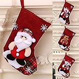 ROYEO Medias de Navidad 4 Piezas, Calcetines de Navidad para el árbol de Navidad Chimenea Decoración, Adorno de Navidad Bolsa de Dulces, Calcetín de Decoración Navideña para Llenar y Colgar
