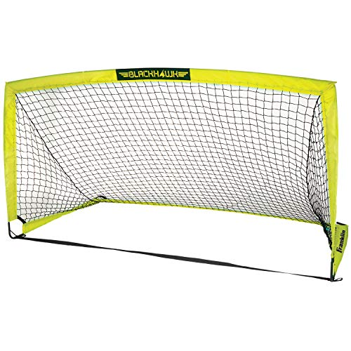 Franklin Sports Blackhawk Portable Soccer Goal - Pop-Up Soccer Goal and Net - Indoor or Outdoor Soccer Goal - Goal Folds For Storage - 12' x 6' Soccer Goal