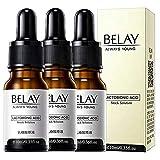 3 pcs/10 ml Organic Vitamin C Serum & Hyaluronic Acid for Face/Neck/Eye Contour