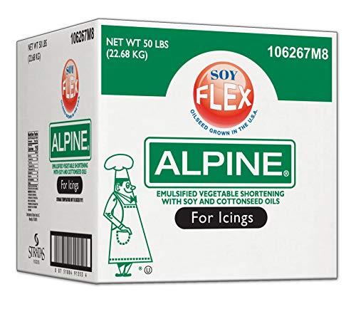 Alpine Soy Flex Icing Shortening, 50 Pound -- 1 each.