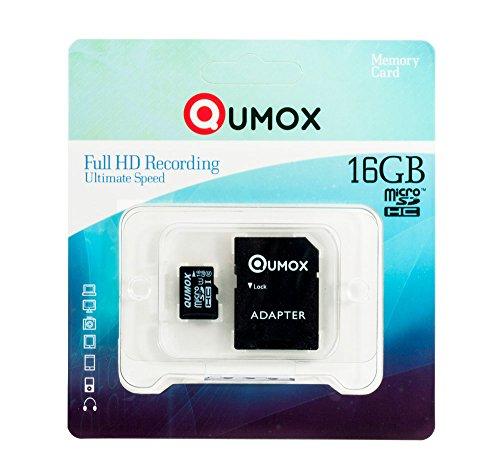 QUMOX 16GB Micro SD SDHC Memory Card Class 10 UHS-I Grade 1