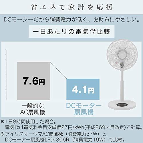 IRISOHYAMA(アイリスオーヤマ)『リモコン式リビング扇DCモーター式90度上向きタイプ(LFD-306R)』