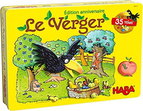 HABA- Théo Le Corbeau verger Édition Anniversaire société-Jeu coopératif-3 Ans et Plus, 306151, Coloré