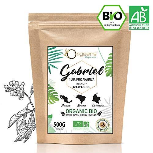 ☘️ Premium BIO Kaffeebohnen ● Biologische Arabica Kaffee Ganze Bohnen ● Säurearm ● Traditionelle Röstung ● Gabriel 500g