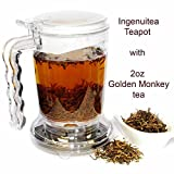 IngenuiTEA 16oz Teapot Set with 2oz T7 TEA Golden Monkey Black Tea