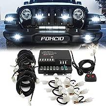 FOXCID Hide A Way 120 Watt HID Emergency Hazard Warning Headlight Strobe Light Kit System For Vehicle Truck (6 HID Bulbs)