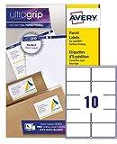 Avery España L7173-15 - Pack de 150 etiquetas blancas para impresoras láser, 99.1 x 57 m...