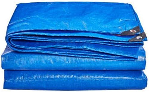 MuMa Bache épaissir Imperméable Imperméable Crème Solaire Ombre Toile De Plein Air (Couleur   bleu - Orange, Taille   4  6m)