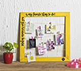 Kavi The Poetry-Art Project Wooden Message Frame (Yellow)
