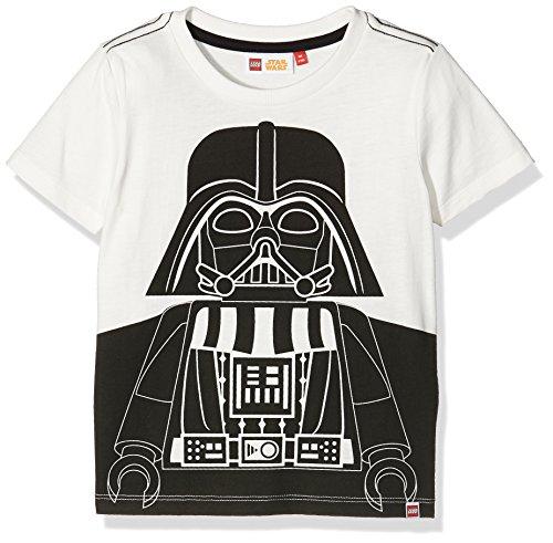 Lego Wear Jungen Shirt Star Wars Darth Vader Tony 850, Gr. 140, Weiß (Off White 102)