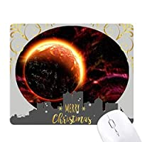 赤い惑星の宇宙の暗闇 クリスマスイブのゴムマウスパッド