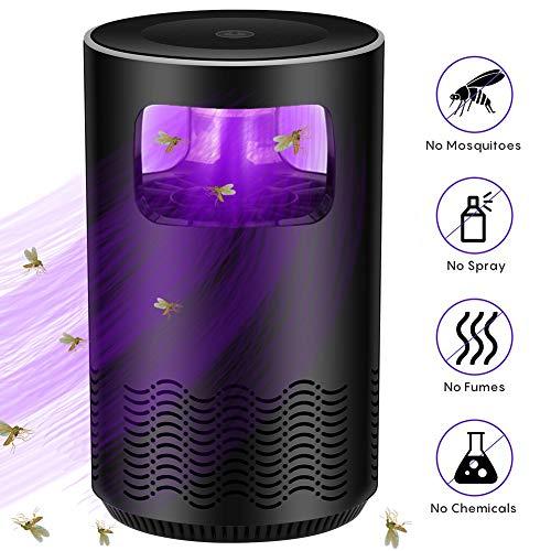 AKQ Moskito Killer Lampe Licht, Insektenvernichter Elektrisch Fliegenfalle Fliege Motte Mücken Falle UV LED Insektenlampe MückenvernichterBlack