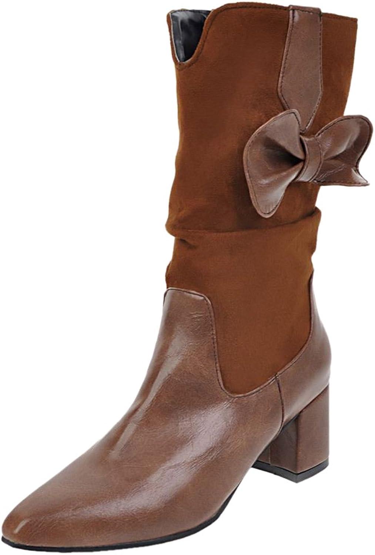 RizaBina Women Fashion Short Boots Pull On