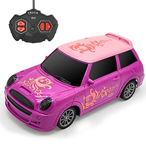 Remote Control Car for Girls Kids- Rc Car Princess Style Racing Vehicle with Lighting for Kids Birthday Christmas Party Gifts