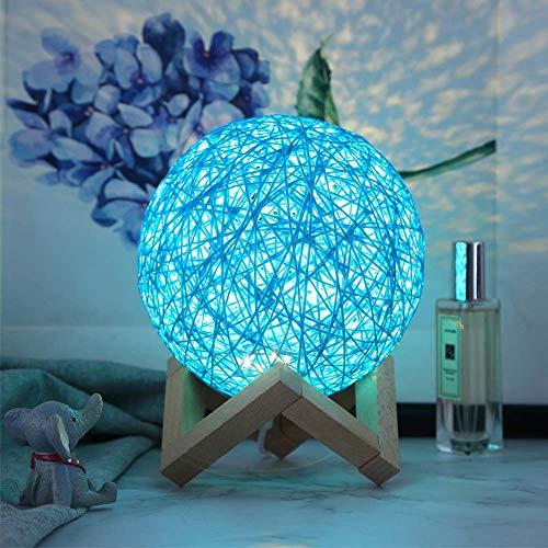 WFBD-CN Lámpara de Escritorio LED Lámpara de Mesa LED USB Star Proyector Luz Luz de Luna Caja de Regalo Interruptor de atenuación lámpara de Escritorio Flexible del LED (Color : Blue)