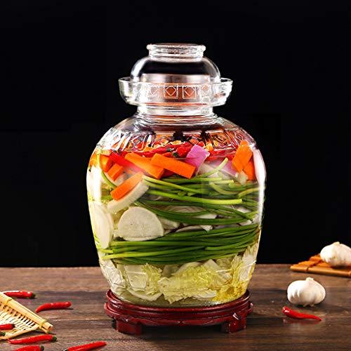 Zsail Tarro de Cristal Vintage Cocina Gran Capacidad Bote de Kimchi Casa...