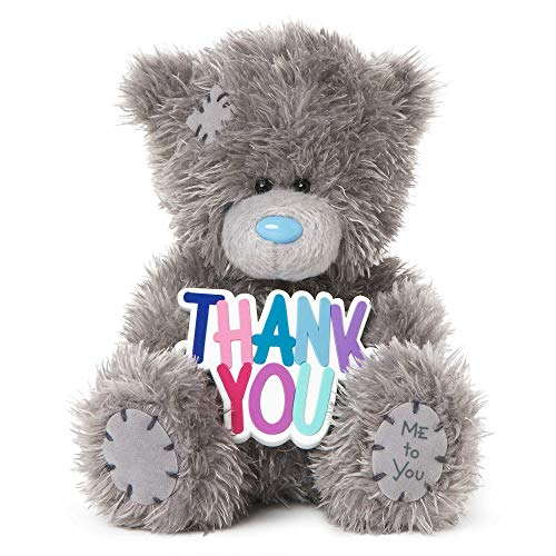 """Me To You SG01W4078 Tatty Teddy Plüschfigur mit Schild """"Thank You"""", 12,7cm hoch"""