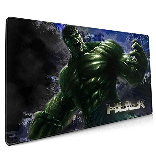 """Avengers Superhero Hulk Mouse Pad Mat Optimized for Gaming Sensors - Designed for Maximum Control Custom for Home and Office 15.7"""" x 35.4"""" inch"""