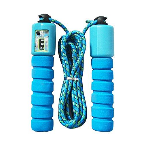 VANKER Fitness Random Color Ajustable Contar Salto Saltar Cuerda con Contador electrónico