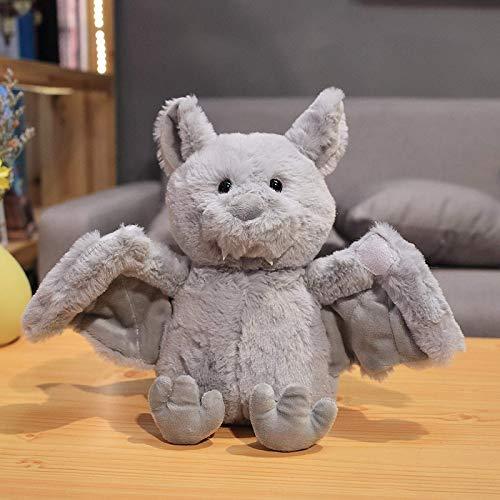 ADIE Plüschtier Teddy Spielzeug Nette Gefüllte Bat Teddy Spielzeug Puppe Tragbare Teddy Wing Halloween Dekor Kind Geburtstagsgeschenk (28cm) grau, (Farbe: grau) / (Farbe: schwarz) (Color : Gray)