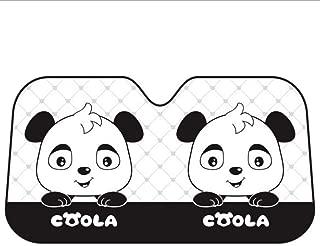 Parasol para Parabrisas de Coche con dise/ño de Ojos de Dibujos Animados IDS Home Color Negro